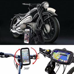 Motorrad-Telefonhalter-Halter-Telefon-Stand-Unterstützung für iPhoneX 7 5S 6 Plus GPS-Fahrradhalter mit wasserdichter Tasche soporte movil moto C18110801