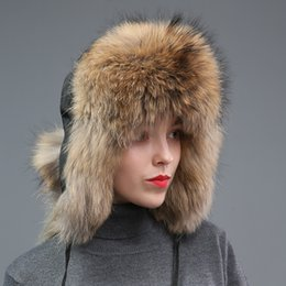 8a8b20ff78ff5 Trapper Style Hat Australia - New Style Winter Genuine Real Fox Fur Hat  Women 100%