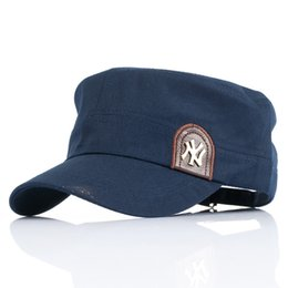 China New Arrival Korean Style Military Flat Caps Men Women Breathable  Cotton Outdoor Hiking Hat Sun 537a5bdbdb6
