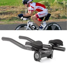 aero bar bike 2019 - Bike Cycle Clip On Triathlon Bars Clip On Tri Bars Mountain bike equipment For Road Bikes Aero Position cheap aero bar b