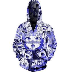 $enCountryForm.capitalKeyWord UK - Cartoon 3D Printed Hooded Sweater Sportswear Men and Women Coat Hoodie Zipper Casual Pullover With Pocket