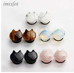 $enCountryForm.capitalKeyWord NZ - Nose Ring Limited Navel Piercing New For Cat Style Ear Plugs Tunnel Piercing Body Jewelry Pair Selling 1pc Expander Gauges