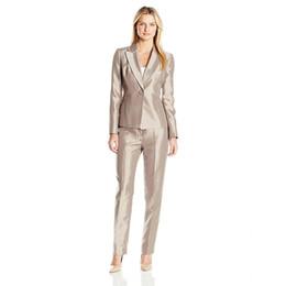 $enCountryForm.capitalKeyWord Australia - Jacket Pants Skinny Brown Women Evening Business Pant Suits Formal Ladies Autumn Trouser Suits Female Office Uniform Custom Made