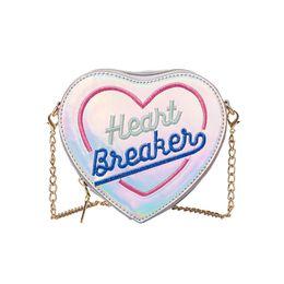 Heart Shaped Handbags Wholesale Australia - New Arrival Children Grils Cute Letters Heart-shape Handbag Pretty Leather Chain Shoulder Bag Mini Coin Messenger Bag bolsos S