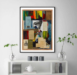 Painting Faces Australia - Abstract Bright Color Face Litter Art Picture Art Wall Canvas Painting Bedroom Decorative unframed Poster Prints