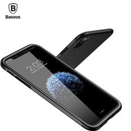 luxury armor phone case 2019 - Baseus Bumper Case For Iphone X Case Luxury Soft Tpu +Tpe Shockproof Armor Case For Apple Iphone X Cover Mobile Phone Ac