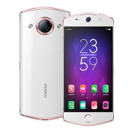 Wholesale Original Meitu M6 4G LTE Cell Phone 3GB RAM 64GB ROM MT6755 Octa Core Android 5.0 inch 21.0MP 2900mAh Fingerprint ID Smart Mobile Phone