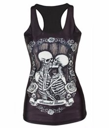 $enCountryForm.capitalKeyWord UK - New Hot 3D Skulls Sports Tank Tops Women Sexy Sleeveless T Shirt Clothes Elastic Yoga Running Vests Camisole Personality S-4XL