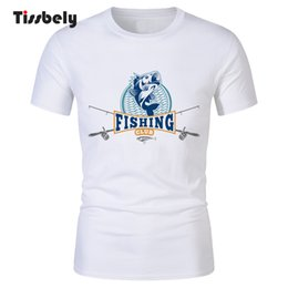 White Shirts Styles Designs For Men Australia - Tissbely Casual T Shirts Creative Fish Club Design Printed Tee Tops for Men New Style Short Sleeved Round Neck Fashion