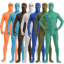 pink full body suits NZ - Adult Men Women Kids Lycra Spandex Cosplay Halloween Party Show Open Eyes Full Body Zentai Jumpsuit Bodysuit Suit Unitard Plugsuit