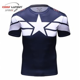 Discount civil 3d - Men's 3d T-Shirts Marvels Costume Comics  Tee Tops Male New Cody Lundin Men Civil War Tee Compression shirts