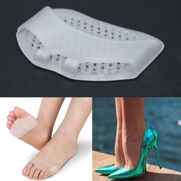 1 Pair Gel Forefoot Metatarsal Pads Silicon Half Yard Othotics Pain Relief Massage Anti-slip Cushion Forefoot Supports Foot Care on Sale