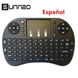 wireless keyboard touchpad for tv Australia - SUNNZO Spanish English Mini Wireless Keyboard Air Mouse USB Keyboard Remote Control Touchpad For Android TV Box A95X X96 mini