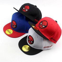 081025146cb 2018 Korean cartoon Embroidery Spiderman Children Hip Hop Baseball Cap  Summer Sun Hat Boys Girls snapback Caps