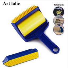 Carpeting Tools NZ - 2Pcs  Set Reusable Sticky Tool Picker Cleaner Lint Roller Pet Hair Remover Brush Clothing Carpet Furniture