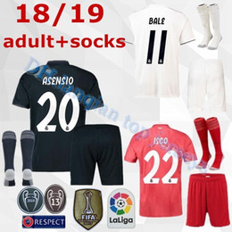 da002fb94b3 18 19 Real Madrid soccer jerseys adult sets 2018 2019 ASENSIO MODRIC BALE  ISCO RAMOS SUAREZ football shirts home away men s kits customize