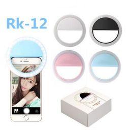 Опт Универсальный светодиодный фонарик Selfie Light Ring Light Вспышка лампы Selfie Ring Освещение камеры Фотографии для Iphone Samsung с розничной упаковке