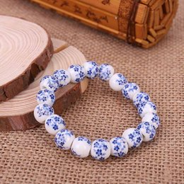$enCountryForm.capitalKeyWord NZ - Blue And White Porcelain Beads Bracelet OL Style Ceramics Accessories Made In China Free Shipping Creative Gifts Factory Price