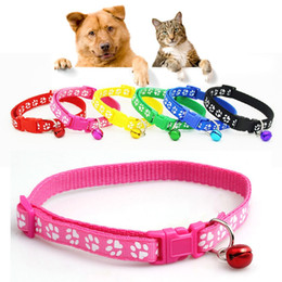 $enCountryForm.capitalKeyWord NZ - New 1 PC Lovely Footprint Pet Collar Strap Buckle Small Footprint Dog Puppy Nylon Fabric Cat Kitten Pet Collar Pet Supplies