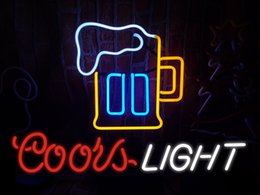 $enCountryForm.capitalKeyWord NZ - COORS LIGHT&CARTOON Neon Sign Real Glass Tube Bar Store Business Advertising Home Decoration Art Gift Display Metal Frame Size 17''X14''