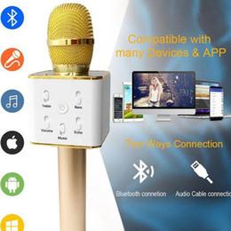 $enCountryForm.capitalKeyWord NZ - Handheld Q7 Microphone Magic KTV Wireless Speaker with Mic Handheld Loudspeaker Portable Karaoke Player bluetooth speakers For cell phone