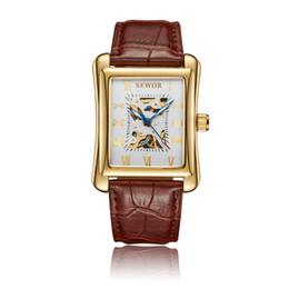 $enCountryForm.capitalKeyWord Australia - SEWOR Mens Mechanical Skeleton Antique Watch Gold Skeleton Wrist Watches Mechanical Hand Wind Vintage Leather Wristwatches SWQ54-741
