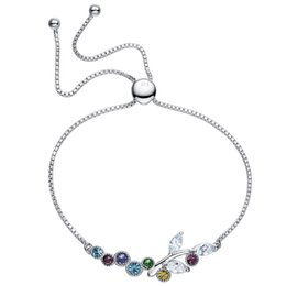 swarovski silver chain NZ - The new slippery tail chain S925 crystal sterling silver bracelet uses Swarovski crystal bracelet