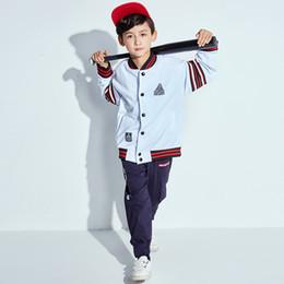 4e8f36c368 Hip Hop Dance Costume For Boys White Baseball Jacket Kids Street Dance  Clothing Girls Stage Performance Jazz Wear DNV10432