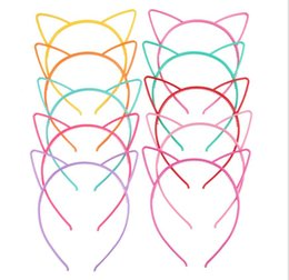 sexy headwear Canada - Baby Party Props Sexy Black Cat Ears Girl Headwear Lady Stylish Headband Hair Hoop Accessories For Women Hairband Kids Head Band GA302