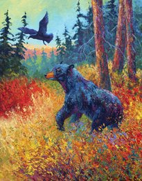 $enCountryForm.capitalKeyWord NZ - YOUME ART Giclee Animal the urge to merge forest-friends oil painting arts and canvas wall decoration art Oil Painting on Canvas 60X76cm