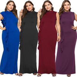 7488ae61d9 Venta al por mayor Maxi vestidos tamaño grande para damas gordas Nuevo  diseño 2018 Invierno Ropa de calle Ropa de mujer Ocasión Vestidos largos