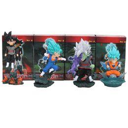 $enCountryForm.capitalKeyWord UK - 4Pcs Set anime Dragon Ball Super WCD son Goku Vegetto Rose Black Goku Figure dragonball Brinquedos Toys Figurals Dolls model
