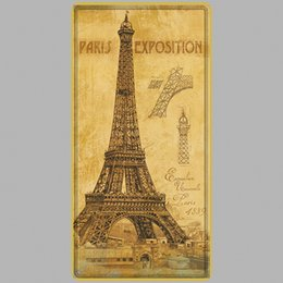 Tin Car Posters Australia - Paris Exposition Effil Vintage Metal Tin Signs Car Number License Plate Plaque Poster Bar Club Wall Garage Home Decoration