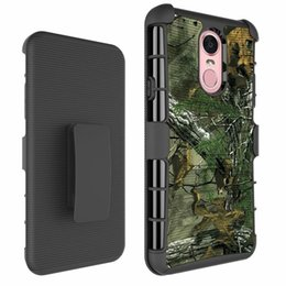 rugged belt clip 2019 - For LG Stylo 4 Stylo4 With Belt Clip Camouflage Army Shockproof Case For Moto E5 Play 3in1 Rugged Hybrid Hard PC+TPU Arm