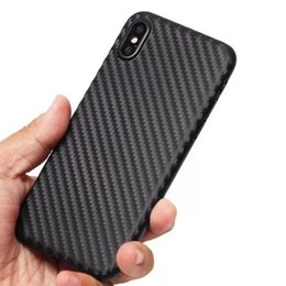 carbon fibre cases for iphone 2020 - Luxury Fashion High Quality Phone Case for Apple iPhone 6 6s 6Plus 7 8 Plus Carbon Fibre TPU Soft Cover Phone