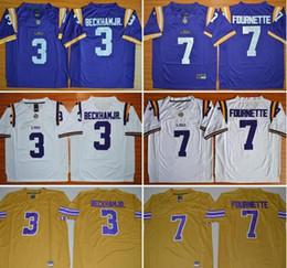 d213afad2 Mans LSU Tigers 3 Odell Beckham JR. 7 Leonard Fournette College Limited  Jerseys NCAA Stitched Men Jerseys