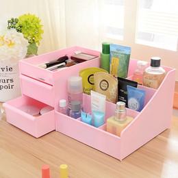 Green Box Containers Australia - Waterproof Drawer Type Makeup Organizer Cosmetics Desktop Storage Box Cosmetics Jewelry Box Plastic Sundries Container Dresser