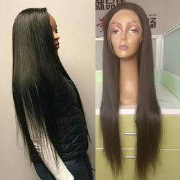 $enCountryForm.capitalKeyWord Australia - Long Lace Front Human Hair Wigs For Black Women Cheap Straight Brazilian Virgin Human Hair Wigs 26 28 30 inch