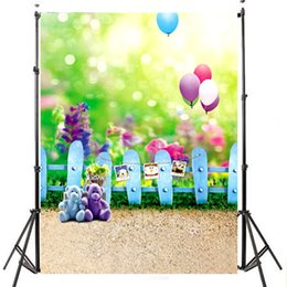 Discount outdoor photo background - 3x5ft Lightweight Cloth Studio Props Photography Backdrops Baby Children Theme Vinyl Photo Outdoor Backgrounds 1.5mx 0.9