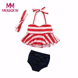 Swimsuit Strap Australia - MUQGEW Infant Kids Baby Girls Clothes Set 2018 Summer Swimwear Straps Swimsuit Bathing Bikini Set Outfits