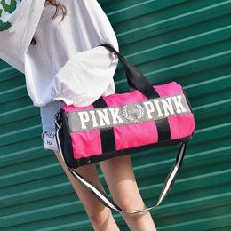 Custom tools online shopping - Pink Vs Custom Logo Oxford Waterproof Travelling Bag Fashion Outdoor Sport Fitness Yoga Bags Business Packing Luggage Handbag ds gg