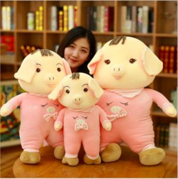 lovely gifts for girlfriend Australia - Cute soft pillow Pink green Pig Plush Toy Doll lovely children's Day gifts for Christmas gifts For my girlfriend stuffed animals doll