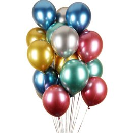 party supplies round balloons NZ - 10pc 12inch 3.5g Metal Balloons Event &Party Supplies Round Metallic Ballons Metal Baloon Wedding Birthday Party Decorations