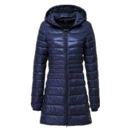 6xl ladies jacket online shopping - New Brand Ladies Long Winter Warm Coat Women Ultra Light White Duck Down Jacket Women s Hooded Parka Female Jackets xl