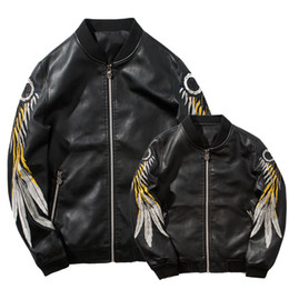 Wholesale sells leather jackets for sale – winter Dress Sari New Fund Sell Like Hot Cakes Men Leather Pu Jacket Embroidered Flight Suit Coat Of Cultivate One s Morality