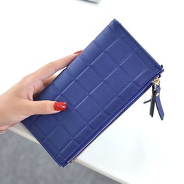 wallets double zippers 2019 - The High Quality Fashion Women Double Zipper Wallet Fashion Plaid Double Zipper Purse High Quality PU Leather Wallet che