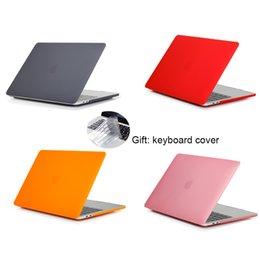 Для Macbook Air Pro Retina 11.6 12 13.3 15-дюймовый матовый корпус для ноутбука с крышкой для клавиатуры