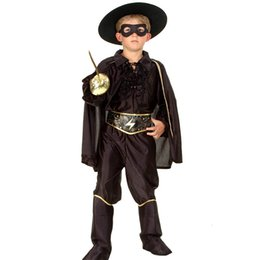 $enCountryForm.capitalKeyWord NZ - Halloween Boys Clothing Sets Masquerade Handsome Vampire Bandit Super Hero Zorro Costume Kids Cosplay for Children