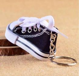 1b9f737157c Mini Silicone Canvas Shoes Keychain Bag Charm Woman Men Kids Key Ring Key  Holder Gift Sports Sneaker Key Chain Funny Gifts
