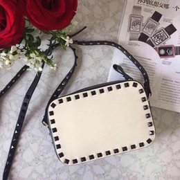 Mini lock box online shopping - 2018 New Fashion Handbag ShoulderBag Lady Bag Gold Rivet Valentine s Day Bags Camera Bag Clutch Small Box Blank Nude Red Wine Brown Colors